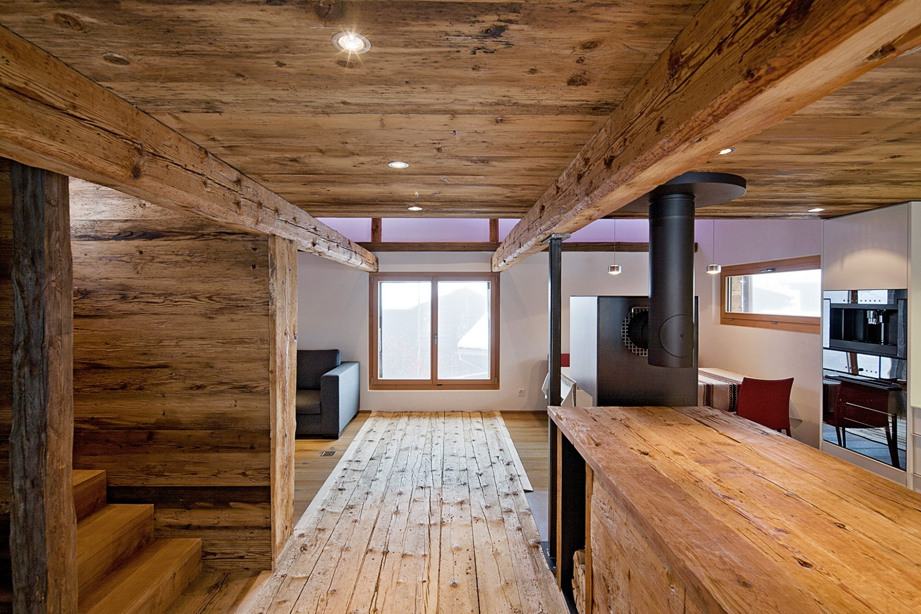 Stall Reckingen – Küche Wohnbereich