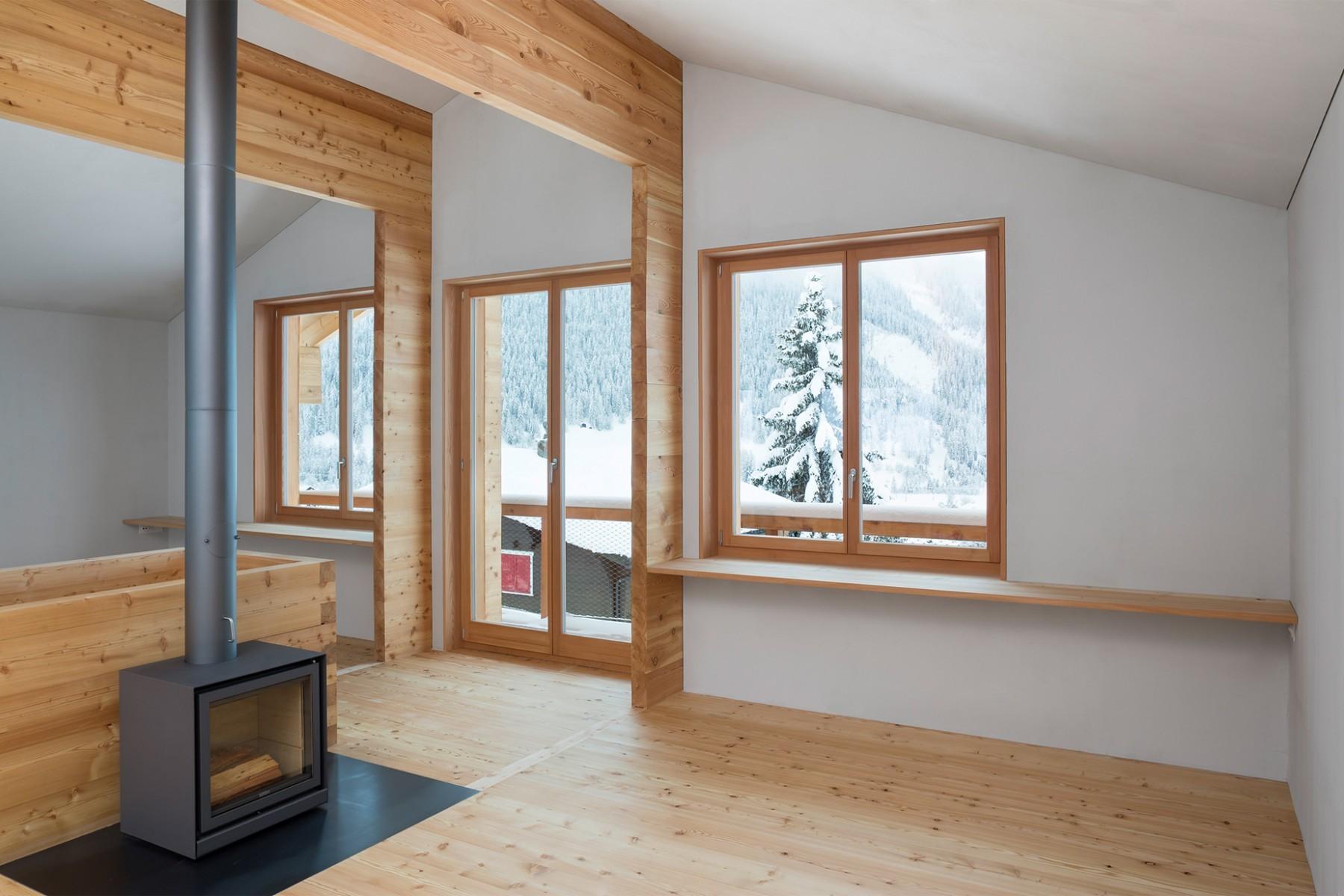 Atelierhaus Reckingen - Wohnbereich – Balkon